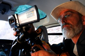 Philip McMaster using Sony 3D Handycam in Helicopter over Grand Canyon